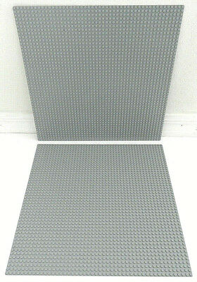 "LEGO BASEPLATE 2x LIGHT GRAY 48x48 STUD PLATFORM PIECE PART 4186 LARGE 15""x15"""