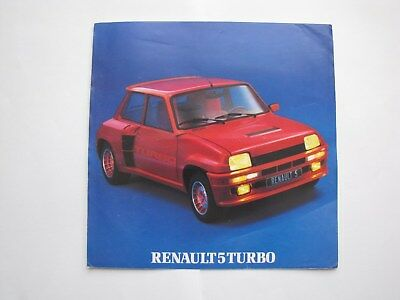 Catalogue  Commercial Renault 5 Turbo  Annee Modele 1981