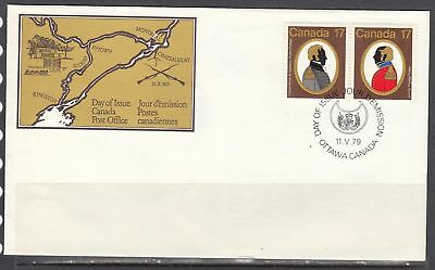 Canada Scott 820a FDC - 1979 Canadian Colonels Issue