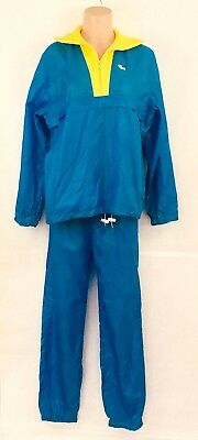 Izod Lacoste Vintage For Her Outerwear Track Warm Up Suit Womens L Blue Yellow