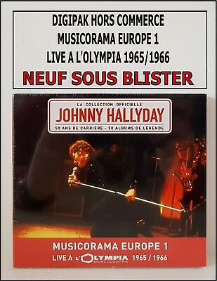 Johnny Hallyday Cd Digipak H.commerce N.sous Blister-Musicorama - A Olympia Rare
