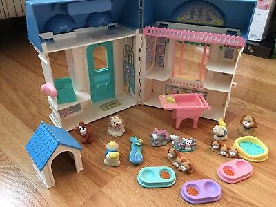 Vintage Fisher Price Loving Family Dream Dollhouse Pet Shop