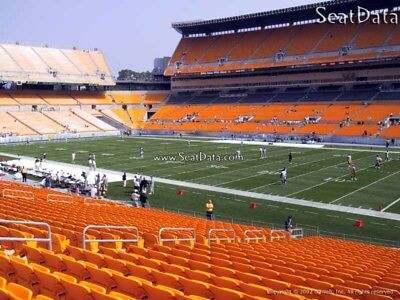 (2) Steelers vs Colts Tickets 8th Row Steelers Sidelines Lower Level!!