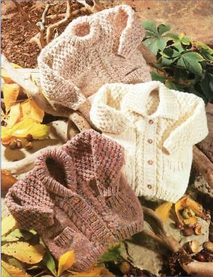 Super Chunky Knitting Pattern Baby/Child's Jackets & Sweater Chest 56-86   (228)