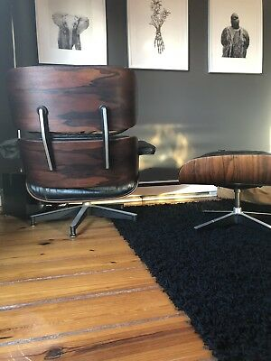 Authentic Early Eames Lounge Chair And Ottoman Herman Miller