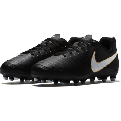 669a670268f3 Nike JR Tiempo Rio IV Firm Ground Kids Soccer Cleats Black size 4 NEW! ✓