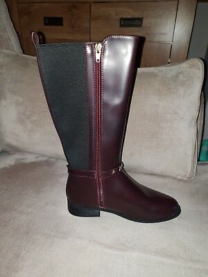 Girls River Island Knee high boots, brown,  size 2