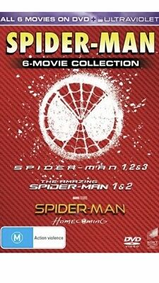 Spider-Man   6 Film Collection Box Set (DVD, 2017, 6-Disc, R4) Homecoming NEW