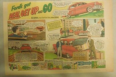 """Ford  Ad: """"Ford's Got Real Get Up and Go""""  from 1953"""