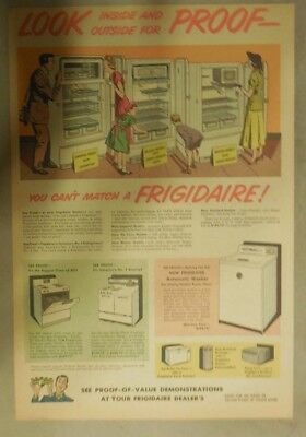 Frigidaire Refrigerator Ad: You Can't Match a Frigidaire from 1950's