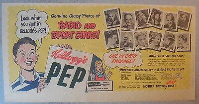 "Kellogg's Cereal Ad: ""Radio Stars "" Premium from 1930's-1940's 7.5  x 15 inches"