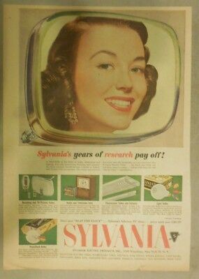 Sylvania TV Ad: Years of Research Pays Off! Best Television from 1951