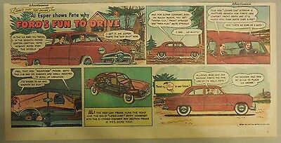 """Ford  Ad: """"Ford's Fun To Drive""""  from 1949"""