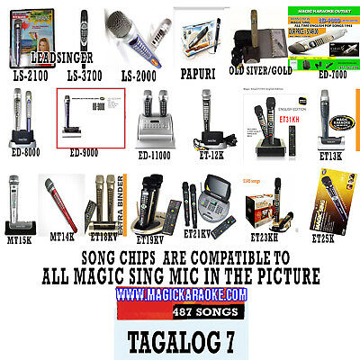 MAGIC SING Chip Tagalog 7 MIX Tagalog & English Song Chip w/ SONG LIST - SALAMAT