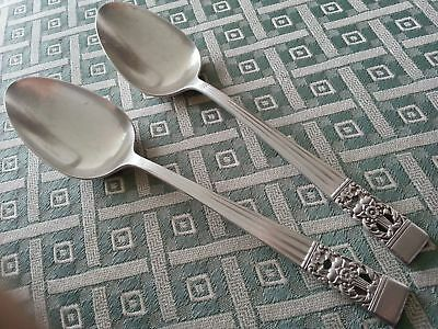 Vintage Community silver plated decorated two serving spoons British Empire
