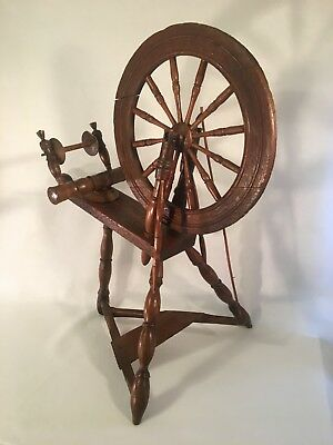 GORGEOUS Unique Antique Saxony Style Spinning Wheel VGUC Don't Let This Go!