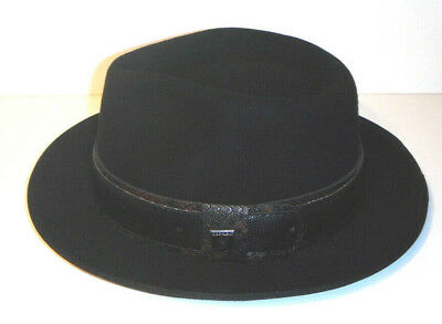 MENS STACY ADAMS Hat Soft Wool Felt 2.5 Inch Tear Drop Fedora SAW657 ... 993e932b6455