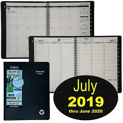 At-A-Glance 70-957G-05 July 2019 thru June 2020 Weekly Monthly Appointment Book