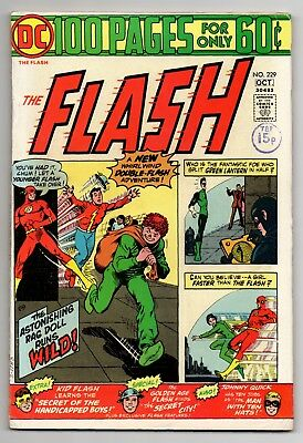 Flash Vol 1 No 229 Oct 1974 (FN+) (6.5) DC Comics, Bronze Age (1970 - 1979)