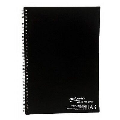 Visual Diary Book A3 120 page Mont Marte Sketch Drawing Pad Art White Paper