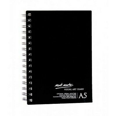 2 X Visual Diary Book A5 120 page Mont Marte Sketch Drawing Pad Art White Paper