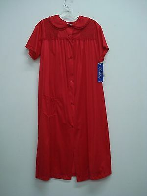 USA Made Nancy King Lingerie Soft Luster Nylon Waltz Gown Size 3X Red #654N