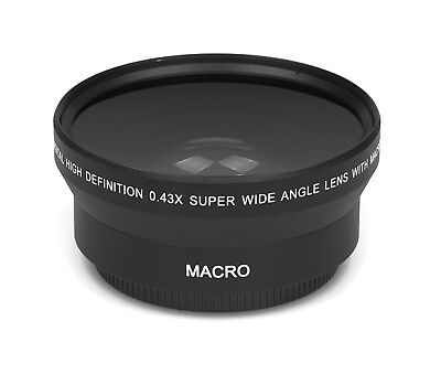 0.43x - 62mm HD Real Glass Branded Optics Wide Angle Macro Resolution Lens Lens