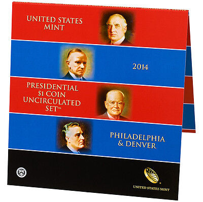 2014 Presidential Uncirculated Coin Set P & D 8 Coins Total Sealed Set 1