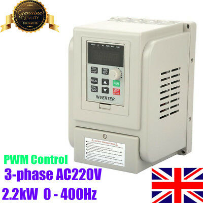 Variable Frequency Drive Inverter VFD PWM Controller for 3-phase 2.2kW AC Motor