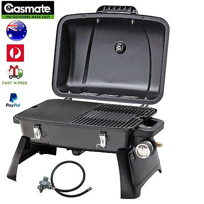 Gasmate Voyager Portable Gas BBQ Grill Camping Outdoor Cooking Plate Barbecue AU