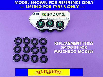 Replacement Tyres Suitable for Matchbox Regular Wheels  SEE Listing #RWT61b