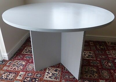 1.2 Metre Round Grey Office Meeting Table