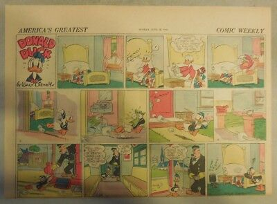 Donald Duck Sunday Page by Walt Disney from 6/28/1942 Half Page Size