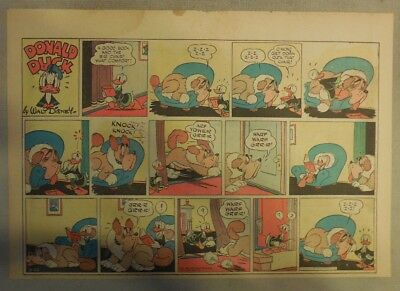 Donald Duck Sunday Page by Walt Disney from 9/20/1942 Half Page Size