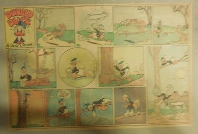 Donald Duck Sunday Page by Walt Disney from 1/12/1941 Half Page Size