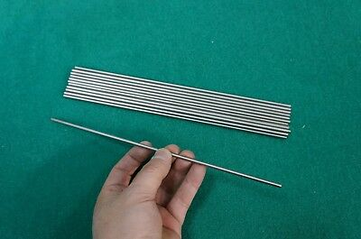 "3.5mm Dia Titanium 6al-4v Round Bar .14"" x 10"" Ti Wire Grade 5 Alloy rod 10pcs"