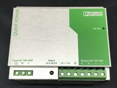 Phoenix Contact QUINT Power Supply Unit - 100-240VAC 24VDC 20A - 2938620