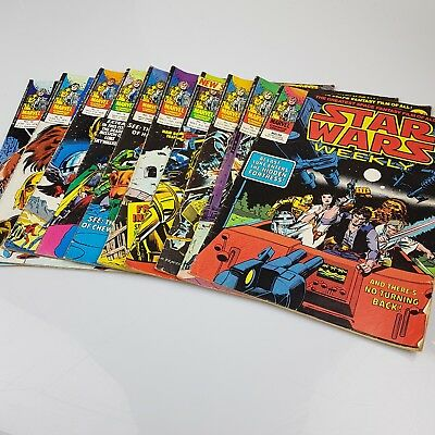 10x Vintage STAR WARS Weekly Comics Marvel UK Issues #10-19 1978
