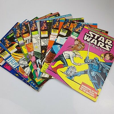 10x Vintage STAR WARS Weekly Comics Marvel UK Issues #90-99 (1979-1980)