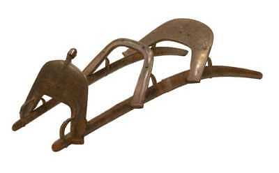 19th Century Napoleon Dromedary Egyptian Wood & Brass Two Person Camel Saddle