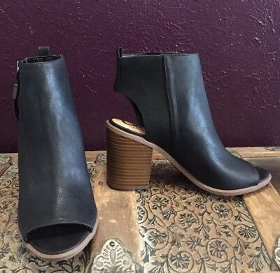 302fc1d962ba Women s Circus By Sam Edelman Kammi Heel Boots Booties Peep Toe Black Size  8.5M