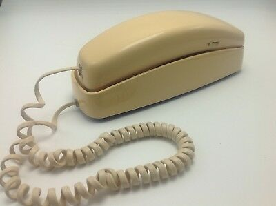 AT&T Telephone Landline 210 Trimline Beige Corded Push Button Desk Wall Phone