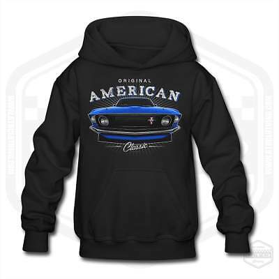 Ford Mustang Hoodie Black Childrens Size S-XL Muscle Car Made in the USA