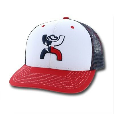 9b7acd3ee019d HOOEY HAT TEXICAN Red White   Blue Snapback Ball Cap 1909T-WHBL ...
