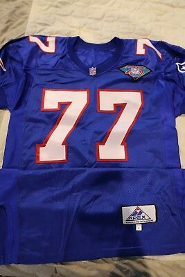 6bc4fc49677 1994 Pat Harlow Team Issued Royal Home New England Patriots Game Un Used  Jersey