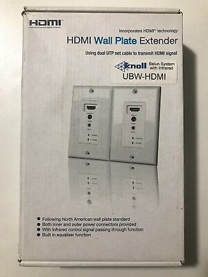 HDMI Wall Plate Extender With Infrared