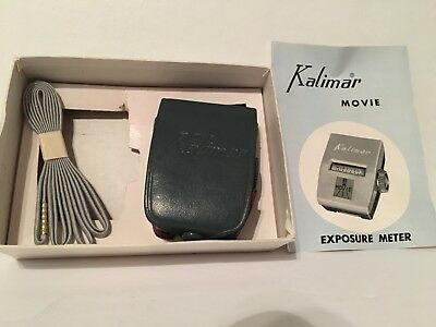 Kalimar Movie Exposure Meter Light Meter Made In Japan