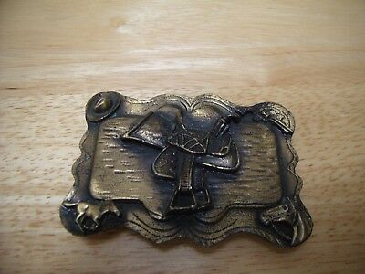 COWBOY RODEO HORSE Saddle Silver-Plated Western Metal Belt