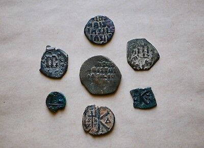 Lot Of 7  Byzantine Bronze Coins To Be Catalogued, Including Anonymous Follis