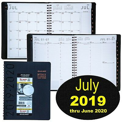 At-A-Glance 70-957X July 2019 thru June 2020 Weekly Monthly Appointment Book